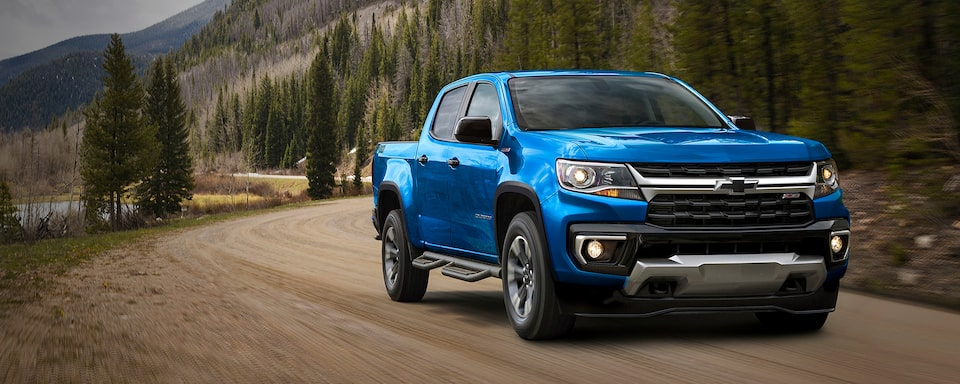 Nueva Chevrolet Colorado 2021, pickup de doble cabina en color Azul Atlántico